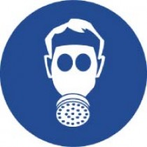 Wear Respiratory Protection ISO Label (#ISO407AP)
