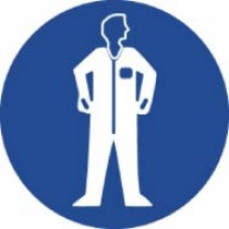 Wear Protective Clothing ISO Label (#ISO409AP)