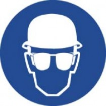Wear Head & Eye Protection ISO Label (#ISO410AP)