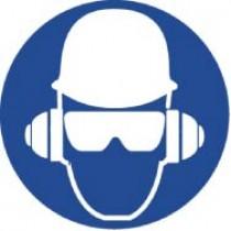 Wear Head, Hearing, & Eye Protection ISO Label (#ISO411AP)