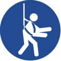Wear Safety Harness ISO Label (#ISO413AP)