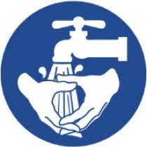 Wash Hands ISO Label (#ISO417AP)