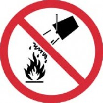 Do Not Extinguish with Water ISO Label (#ISO421AP)