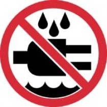 Do Not Expose to Water ISO Label (#ISO422AP)