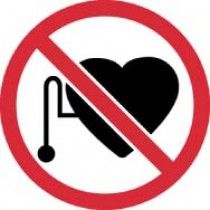 No Pacemakers ISO Label (#ISO426AP)