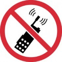 No Portable Transmitters ISO Label (#ISO427AP)