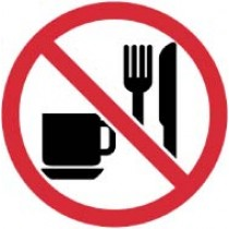No Eating or Drinking ISO Label (#ISO430AP)