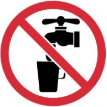 No Drinking Water ISO Label (#ISO431AP)