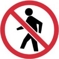 No Pedestrians ISO Label (#ISO432AP)