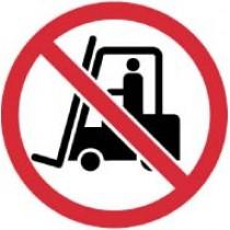 No Industrial Trucks ISO Label (#ISO433AP)