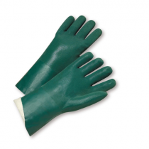 Standard Green Rough Finished PVC Jersey Lined Gloves (#J1227RF)