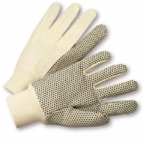 Premium 10oz. Cotton Canvas with PVC Dots Gloves (#K01PDI)