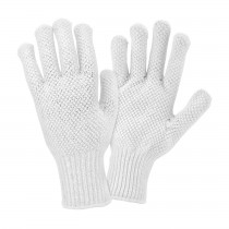 PIP® Seamless Knit Cotton / Polyester Glove with Double-Sided PVC Dot Grip  (#K708SKBSW)