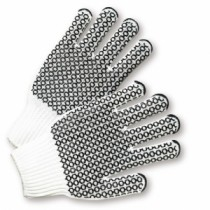 PIP® Seamless Knit Cotton / Polyester Glove with Double-Sided PVC Honeycomb Grip  (#K708SKHW)