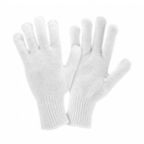 PIP® Seamless Knit Cotton / Polyester Glove with PVC Dot Grip  (#K708SKW)