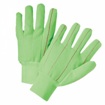 PIP® Hi-Vis Cotton / Polyester Double Palm Glove with Nap-in Finish - Knitwrist  (#K81SCNCGRI)