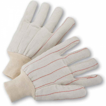 PIP® Cotton Corded Double Palm Glove with Nap-in Finish - Knitwrist  (#K81SCNCI)