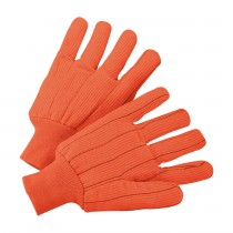 PIP® Hi-Vis Cotton / Polyester Double Palm Glove with Nap-in Finish - Knitwrist  (#K81SCNCORI)
