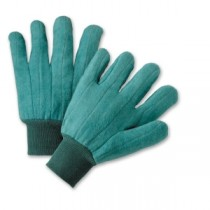 PIP® Premium Grade Cotton Chore Glove with Double Layer Palm/Back and Nap-out Finish - Knitwrist  (#KG22SI)