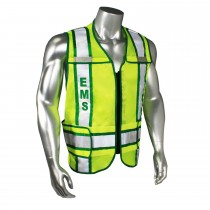 Breakaway Contrast EMS Safety Vest, Green Trim (#LHV-207-3G-EMS)
