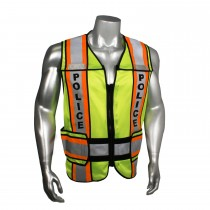 "Breakaway 4"" Contrast Police Safety Vest, Orange Trim (#LHV-207-O4C-POL)"