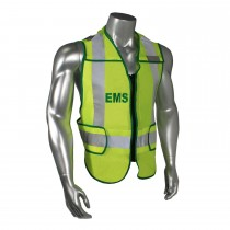Breakaway Standard EMS Safety Vest, Green Trim (#LHV-207DSZR-EMS)