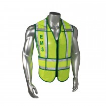 "Breakaway 1"" Split EMS Safety Vest, Green Trim (#LHV-207-SPT-EMS)"