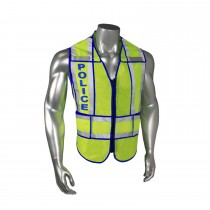 "Breakaway 1"" Split Police Safety Vest, Blue Trim (#LHV-207-SPT-POL)"