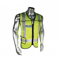 Breakaway Police Safety Vest, Blue Trim (#LHV-5-PC-ZR-POL)