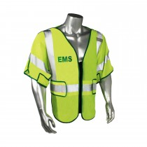 Breakaway Class 3 EMS Safety Vest, Green Trim (#LHV-PS3-DSZR-EMS)