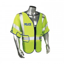 Breakaway Class 3 Police Safety Vest, Blue Trim (#LHV-PS3-DSZR-POL)