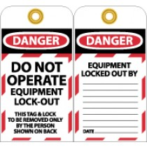 Do Not Operate Equipment L/O Tag (#LOTAG11)