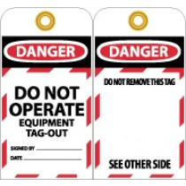 Do Not Operate Equipment Tag-Out (#LOTAG13)