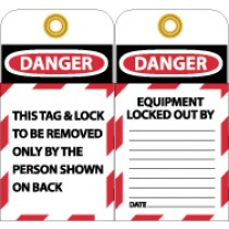 This Lock & Tag To Be Removed Only By The Person Shown On Back (#LOTAG1)