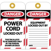 Power Cord Locked Out Tag (#LOTAG23)