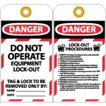 Do Not Operate Equipment L/O Tag (#LOTAG28)