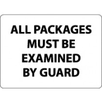 All Packages Must Be Examined By Guard Security Sign (#M101)