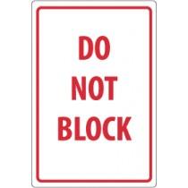 Do Not Block Security Sign (#M103)