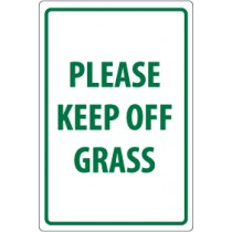 Please Keep Off Grass Security Sign (#M105)