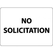 No Solicitation Security Sign (#M108)