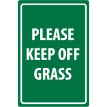 Please Keep Off Grass Security Sign (#M112)