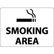 Smoking Area Security Sign (#M114)