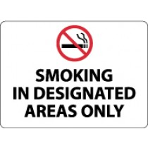 Smoking In Designated Areas Only Security Sign (#M115)