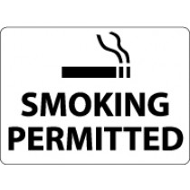 Smoking Permitted Security Sign (#M116)