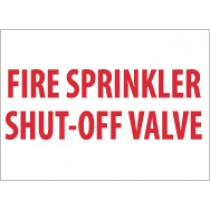 Fire Sprinkler Shut-Off Valve Sign (#M160)