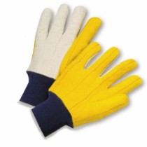 PIP® Cotton Chore Glove with Double Layer Palm/Back and Nap-out Finish - Knitwrist  (#M18KW)