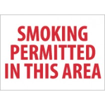 Smoking Permitted In This Area Sign (#M243)