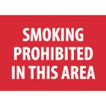 Smoking Prohibited In This Area Sign (#M317)