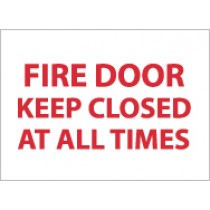 Fire Door Keep Closed At All Times Sign (#M31)