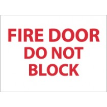 Fire Door Do Not Block Sign (#M32)